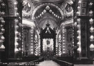 RP; CITTE DEL VATICANO, Basilica di S. Pietro, Illuminazione e addobbo per le...
