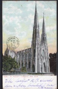 New York City St. Patrick's Cathedral - Postally Used 1906 - Und/B
