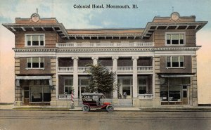 Colonial Hotel, Monmouth, Illinois, Postcard, with a Message Dated 1914