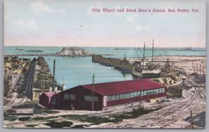 San Pedro, Cal., City Warf and Dead Man's Island -