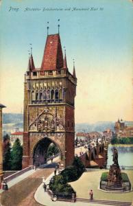 Czech Republic Prag Altstädter Brückenturm und Monument Karl IV 02.59