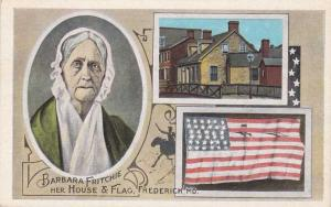Barbara Fritchie, House, Flag, and Poem - Frederick MD, Maryland - WB