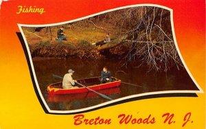 Fishing in Breton Woods, New Jersey