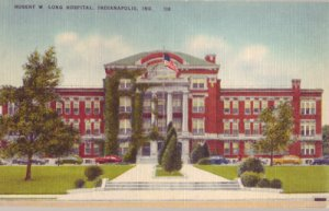 INDIANAPOLIS - GREAT frontal view of Robert W. Long Hospital, 1930/40s