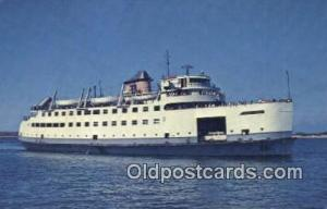 The MV Nantucket, Cape Cod, Massachusetts, MA USA Ferry Ship Postcard Post Ca...