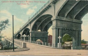 Harrisburg PA, Pennsylvania - Cameron Street Approach to Mulberry Bridge - DB