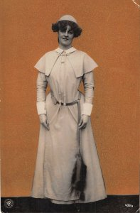 US3375 Woman in Traditional Costume, Dress Postcard fantasy collage germany