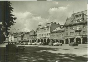 Czech Republic, Vrchlabi, namesti, 1960s unused real photo