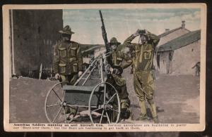 Mint USA Picture Postcard American Soldiers Manning The Anti Aircraft Gun