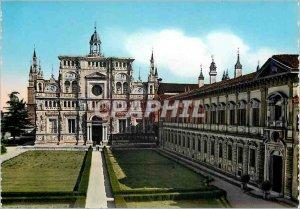 Postcard Modern Certosa di Pavia Facade and Museum