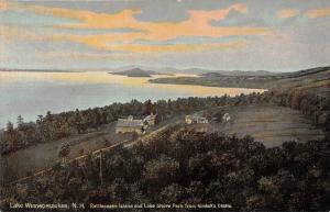 4603 Aerial View of  Rattlesnake Island and Lake Shore Park   Lake Winnepesau...