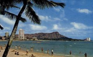 Waikiki Beach, Hawaii, HI Waikiki Beach HI Writing On Back