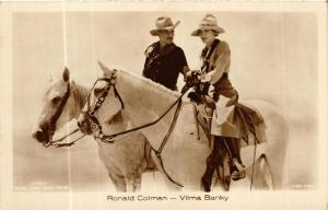 CPA RONALD COLMAN. VILMA BANKY Ross Verlag 1795/3 FILM STAR (600907)
