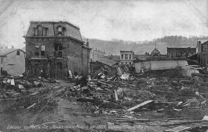 Johnstown Pennsylvania Flood Disaster Scene Antique Postcard K105504