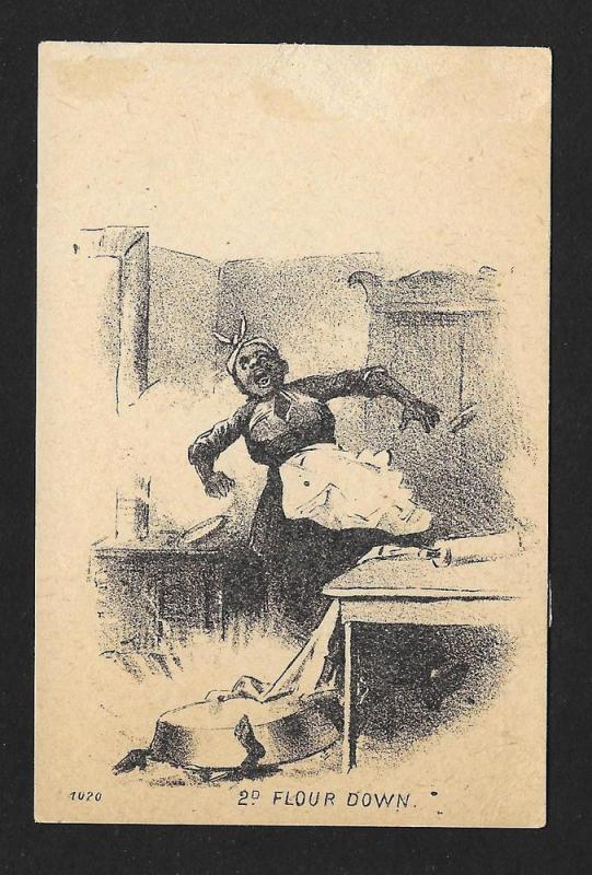 VICTORIAN TRADE CARDS (2) Black Woman Child & Flour