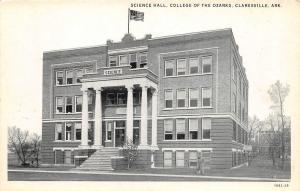 C68/ Clarksville Arkansas AR Postcard c30s College of the Ozarks Science Hall