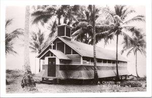 RPPC-Paupa, New Guinea A Chapel WWII No. 4 Grogan Photo