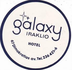 CYPRUS IRAKLIO GALAXY HOTEL VINTAGE LUGGAGE LABEL