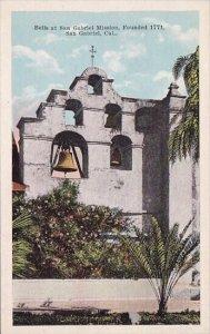 Bells At San Gabriel Mission Founded 1771 San Gabriel California