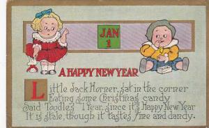 Happy New Year Little Jack Horner 1909