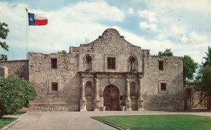 San Antonio, Texas, TX, The Alamo, 1964 Chrome Vintage Postcard g9068