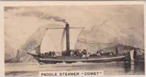 Carreras Vintage Cigarette Card Notable Ships 1929 No 16 Paddle Steamer  Comet