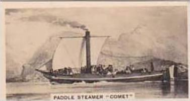 Carreras Vintage Cigarette Card Notable Ships 1929 No 16 Paddle Steamer  Comet