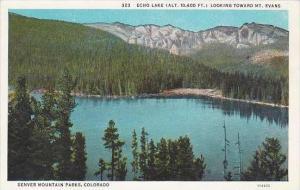 Colorado Denver Echo Lake Looking Toward Mountain Denver Mountain Parks