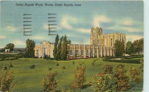 Cedar Rapids, Iowa, IA, Cedar Rapids Water Works, 1950 Vintage Postcard e1631