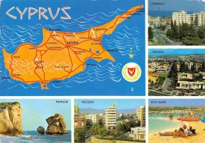 B96515 cyprus map cartes geographiques paphos nicosia