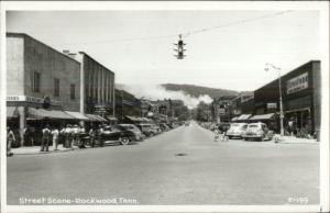 Rockwood TN Street Scene CLINE? Real Photo Postcard