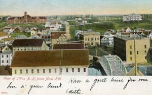 NH - Tilton. View from Arch Hill     ***RPO- Groveton(?) & Boston RR