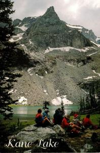 Idaho Pioneer Mountains Hikers Picnicking At Kane Lake