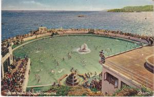 Post Card Devon Plymouth The Bathing Pool