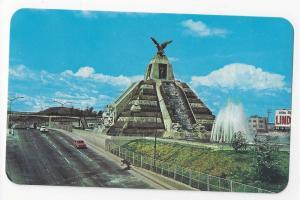 Mexico Monument a La Raza Ciudad Pyramid Vintage Postcard