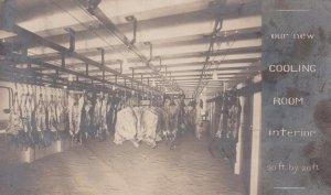 RP: CHICAGO , Illinois, 1900-10s ; Peter Britton & Sons Meat Locker