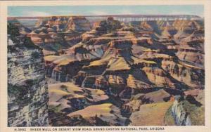 Arizona Grand Canyon Sheer Wall On Desert View Road Fred Harvey