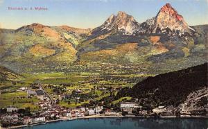 Postcard Vintage BRUNNEN und die Mythen SWITZERLAND