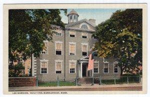 Marblehead, Mass, Lee Mansion, Built 1768