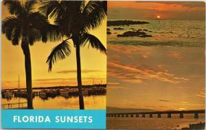 Florida sunrise multi view: West Palm Beach; Gulf of Mexico and Florida Keys