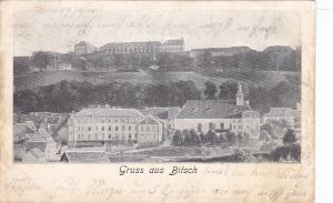 Gruss aus Bitsch , district of Raron , canton of Valais , Switzerland , PU-1904
