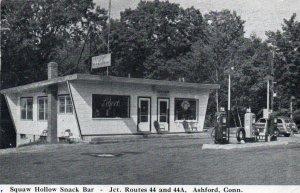 12670 Squaw Hollow Snack Bar & Gas Station, Ashford, Connecticut 1960