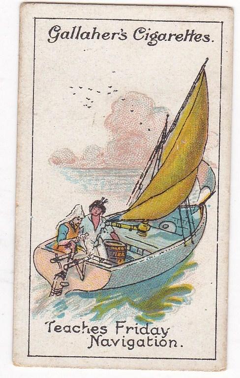 Cigarette Cards Gallaher ROBINSON CRUSOE No 75 Teaches Friday Navigation