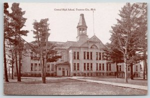 Traverse City Michigan~Central High School~Open Cupola Tower~c1910 Postcards