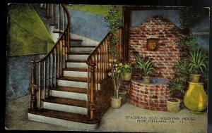 Absinthe House Stairway New Orleans Louisiana unused c1930's