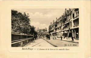 CPA Berck Plage- Avenue de la Gare et la nouvelle Gare FRANCE (908665)