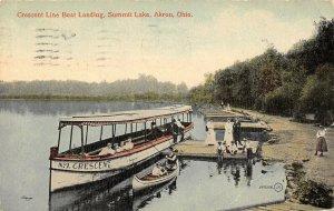 LP99   Akron Ohio Summit Lake boat landing      Postcard