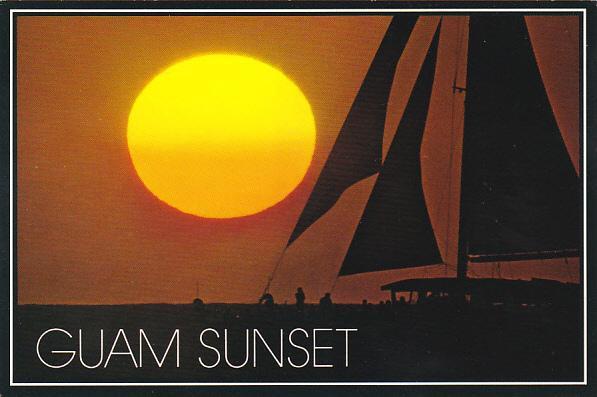 Guam Beautiful Sunset Scene