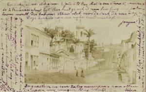 brazil, SÃO JOÃO DEL REY, Minas Gerais, Street Scene (1904) RPPC