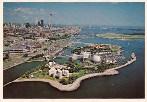 Canada A Birds Eye View Of Ontario Place The CN Tower And The Skyline Toronto...